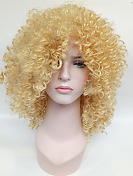 Fashion Women's Glueless Blonde Curly Short Hair Wig for African American Women Wig.
