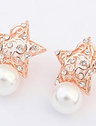 Stud Earrings Earrings Set Imitation Women's Girls' Korean Style Pearl Rhinestone Delicate Friendship Party Daily Business Movie Jewelry