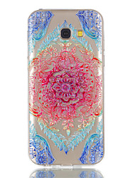 cheap -For Samsung Galaxy A5(2017) A3(2017) Phone Case TPU Material Lace Flowers Pattern Relief Phone Case