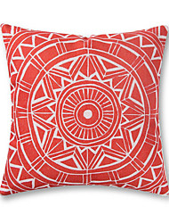 1 Pcs Baroque Design Red Pattern Pillow Cover Cotton/Linen Pillow Case 45*45Cm