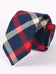 cheap -Men's Cotton Rayon Polyester Neck Tie,Neckwear Color Block All Seasons Blue Red Beige