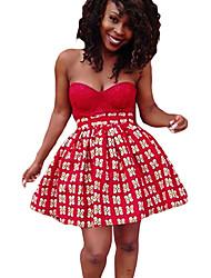 Femme Sexy Sortie Soirée Mini Jupes,Large Sexy Imprimé Eté