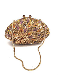 cheap -Women's Bags Metal / PU Evening Bag Crystals for Event / Party Gold