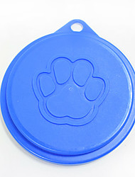 cheap -Pet Plastic Canned Cover Claw Print Style Pet Products Dog Bowl Lid Cat Tableware Food Lid Dog Supplies