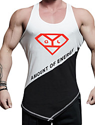 cheap -Men's Running T-Shirt Quik Dry Elastic Casual/Daily Vest/Gilet Top for Running/Jogging Casual Exercise & Fitness Camping / Hiking /