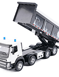 cheap -Truck Dump Truck Toy Truck Construction Vehicle Toy Car Music & Light Metal Alloy Metal Unisex Kid's Toy Gift