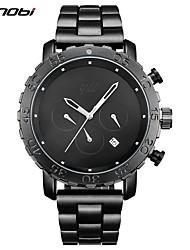 Недорогие -SINOBI Муж. Кварцевый Наручные часы Спортивные часы Китайский Календарь Защита от влаги Крупный циферблат Имитация Алмазный Хронометр