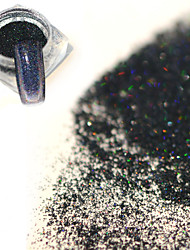 cheap -0 2g bottle fashion mysterious black holographic fine powder nail art laser glitter shining pigment diy charm decoration jx16
