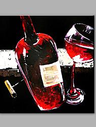 Pintada a mano Floral/BotánicoModerno Un Panel Pintura al óleo pintada a colgar For Decoración hogareña