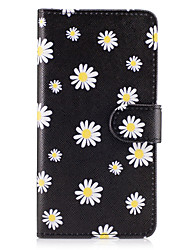cheap -Case For Samsung Galaxy Grand Prime On7(2016) Case Cover The Small White Flowers Pattern PU Leather Cases for On5(2016)