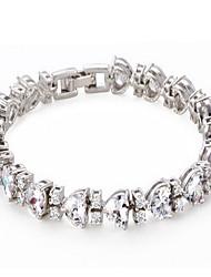 abordables -Femme Cristal Chaînes & Bracelets - Rétro Naturel Fait à la Main Irrégulier Ovale Blanc Bracelet Pour Mariage Soirée Anniversaire