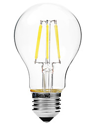 cheap -BRELONG® 1pc 6W 450 lm E27 LED Filament Bulbs A60(A19) 6 leds COB Dimmable Warm White White AC 200-240V