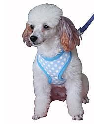 Недорогие -Кошка Собака Ремни Поводки Компактность Дышащий Складной Безопасность Регулируется Горошек Английский Сетка Хлопок Черный Зеленый Синий