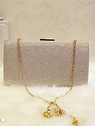 Women Bags All Seasons PU Evening Bag for Event/Party Party & Evening Club Champagne Gold Black Silver