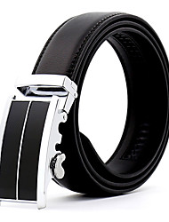 cheap -Men's Alloy Leather Waist Belt,Work Casual/Daily Belts Wedding Solid Fashion
