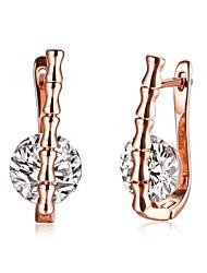 Women's Drop Earrings Hoop Earrings Crystal Rhinestone AAA Cubic Zirconia Basic Circular Unique Design Tattoo Style Dangling Style