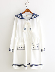 Student/School Uniform Sailor/Navy One-Piece/Dress Party Costume Women's Female Halloween Carnival Children's Day Festival/Holiday