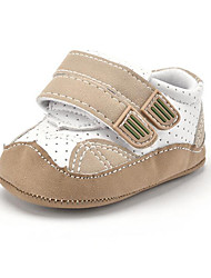 Newborn Baby Kids' Sneakers First Walkers Microfibre Fall Winter Party & Evening Dress Casual Hook & Loop Flat Heel Khaki Flat