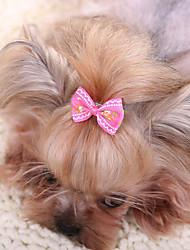 baratos -Acessórios de Cabelo Roupas para Cães Laço Amarelo Fúcsia Vermelho Azul Rosa claro Tecido Ocasiões Especiais Para animais de estimação