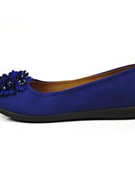 preiswerte -Damen Schuhe Stoff Frühling Herbst Komfort Leuchtende Sohlen Loafers & Slip-Ons Flacher Absatz Runde Zehe Kristall Blume für Büro /