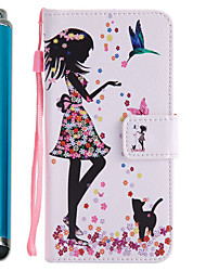cheap -For Samsung Galaxy A5 A3 2017 Case Cover Card Holder Wallet with Stand Flip Pattern Full Body Case With Stylus Sexy Lady Hard PU Leather A5 A3 2016