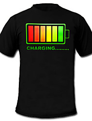 cheap -LED T-shirts 100% Cotton 2 AAA Batteries High Quality Night Light