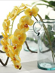 28inch Large Size 1 Branch Real touch Orchids Tabletop Flower Artificial Flowers