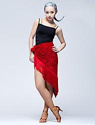 Dança Latina Lenços de Quadril para Dança do Ventre Mulheres Apresentação Renda Metal 1 Peça Xale de Dança do Ventre