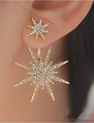 cheap -Women's Star 1 Stud Earrings Drop Earrings - Unique Design Logo Style Fashion Gold Silver Star Earrings For Wedding Party Special