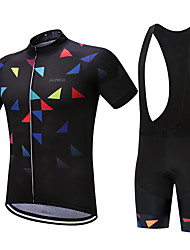 cheap -SUREA Cycling Jersey with Bib Shorts Men's Short Sleeves Bike Clothing Suits Quick Dry Breathable Compression Sweat-wicking Coolmax LYCRA®
