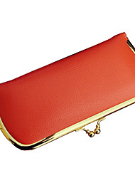 cheap -Women Bags PU Polyester Wallet Metallic for Shopping Casual Formal Outdoor Office & Career All Seasons Black Orange Fuchsia Sky Blue Pink