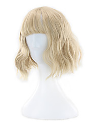 cheap -Synthetic Wig Wavy Asymmetrical Haircut Synthetic Hair Natural Hairline Golden Wig Women's Short Capless
