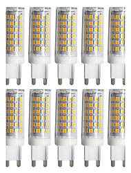 cheap -YWXLIGHT® 10pcs 9W 800-900 lm G9 LED Bi-pin Lights T 88 leds SMD 2835 Dimmable Warm White Cold White Natural White AC 220-240V