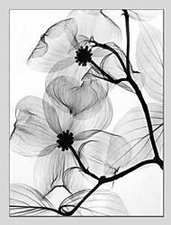 Недорогие -Hang-роспись маслом Ручная роспись - Цветочные мотивы / ботанический Классика Modern холст