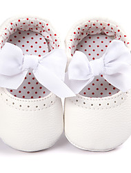 cheap -Girls' Shoes PU Spring & Fall Comfort / First Walkers / Crib Shoes Loafers & Slip-Ons Bowknot for Gold / White / Pink / Espadrilles