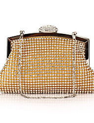cheap -Women's Bags Polyester Evening Bag Rhinestone / Sequin Solid Colored Gold / Black / Silver