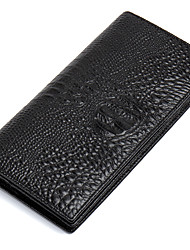 Men Cowhide Wallets Alligator Purse Business Fashion Card Brand Long Organizer Clutch Pouch D6023-1