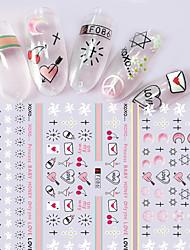 cheap -1pcs Fashion Sweet Pink Creative Design Nail Art 3D Stickers Nail DIY Beauty Sweet Decoration F086