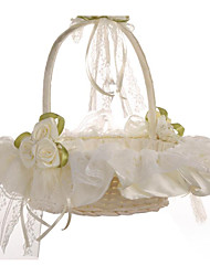 cheap -Bud Silk Cloth Art Wedding Flower Basket Flower Basket Bridesmaid Basket