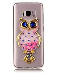 cheap -For Samsung Galaxy S8 S8 Plus Case Cover Owl Flash Powder Quicksand TPU Material DIY Phone Case S7 S7 Edge