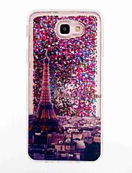 baratos -Capinha Para Samsung Galaxy J7 Prime J5 Prime Liquido Flutuante Estampada Capa Traseira Torre Eiffel Macia TPU para J7 (2016) J7 Prime J5