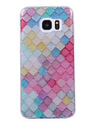cheap -For Samsung Galaxy S8 S8 Plus Case Cove Lattice Pattern Flash Powder IMD Process TPU Material Phone Case S7 S6 Edge