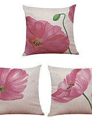 abordables -4 PC Lino Natural/Orgánico Cobertor de Cojín Funda de almohada