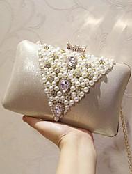 preiswerte -Damen Taschen PU Abendtasche Perlen Verzierung für Veranstaltung / Fest Klub Party & Festivität Ganzjährig Gold Silber
