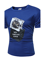 Men 's Fashion Casual Printing Large - Size Short - Sleeved T - Shirt