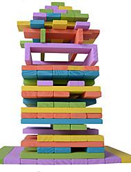 abordables -Blocs de Construction Jeux d'Empilage Tour à Empiler Jouets Carré Equilibre Bois Enfant Pièces