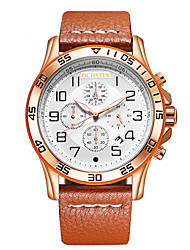 OCHSTIN Men's New Brand Of High-End Real Leather Three-Needle Calendar Watch