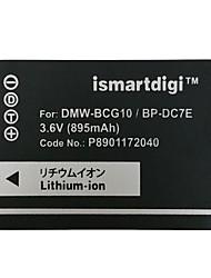 Ismartdigi BCG10 3.6V 895mAh Camera Battery for Panasonic DMC ZS20 ZS1 ZR3 ZS3 ZS5 ZS7 GK