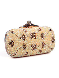 cheap -Women Bags Polyester Special Material Evening Bag Rhinestone Floral for Wedding Birthday Event/Party Business Casual Stage Formal Office