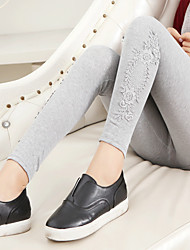 Women's Mid Rise strenchy Legging Pants,Cute Simple Slim Pure Color Lace Solid